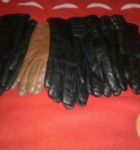 Перчатки кожаные, женские, размеры разные 10пар