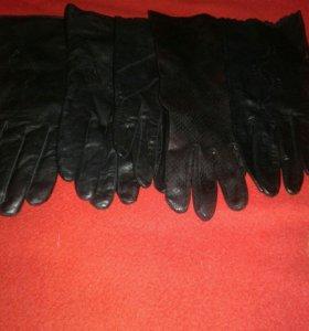 Перчатки женские, кожаные, размеры разные, 10пар