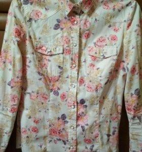 Джинсовая рубашка. Ostin