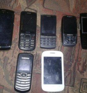 Продам телефоны полурабочие