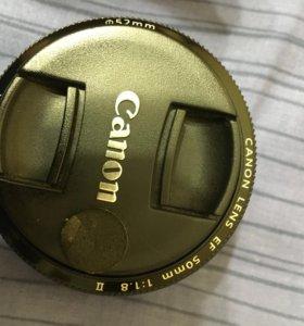 Объектив Canon 50mm f/1.8 ii