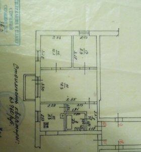 Квартира, 3 комнаты, 49 м²