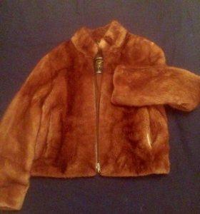 Шубка-куртка норковая 44