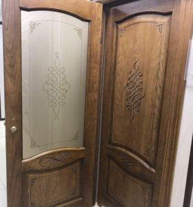 """Межкомнатная дверь """"НАПОЛИ"""" натуральный шпон дуба"""