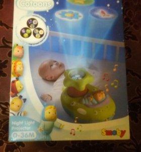 Детский проектор ночник catoons smoby