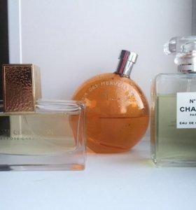 Estée Lauder, Hermès, Chanel eau de parfum