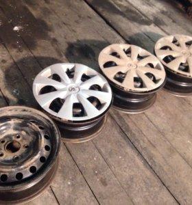 Штампованные диски r15 тоета королла 2008г
