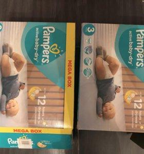 Подгузники Pampers active baby-dry 3 150 штук