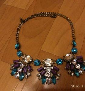 Колье, ожерелье zara