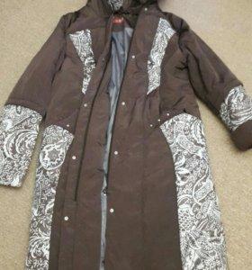 Утепленное женское пальто новое. Размер 56.