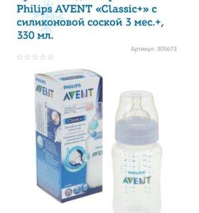 Бутылочка Philips AVENT Classic+ 330 мл 3 мес+