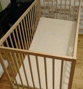 Детская кровать икеа синглар