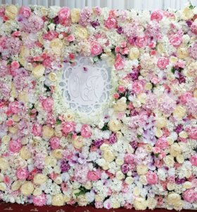 Фотостена фотозона арка цветочная стена и др