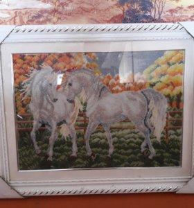 Картины из бисера с рамкой