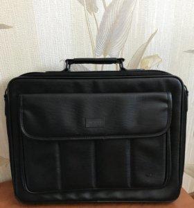 Кожаная сумка для ноутбука 17 дюймов