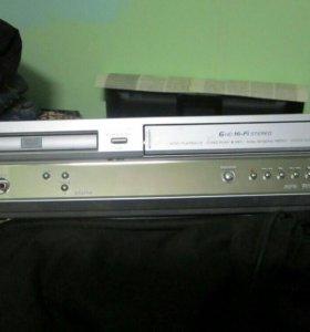 видеомагнитофон LG VHS + DVD