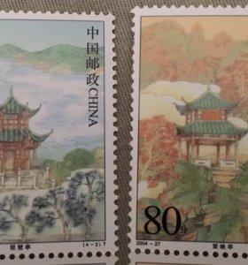 Марка. Знаменитые беседки Китая 2004 год