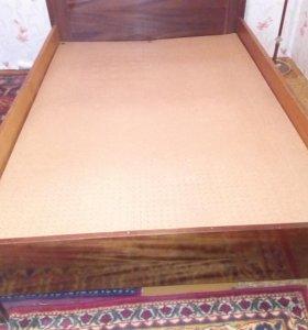 Кровать 2-хспальная б/у
