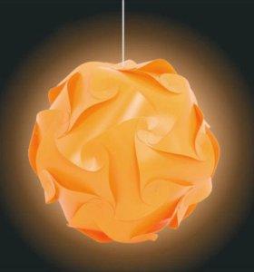 Новый люстра-светильник-пазл своими руками оранжев