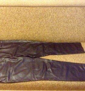 Французские брюки женские из кожзаменителя 52-54 р