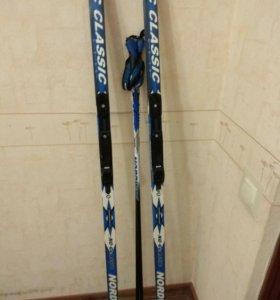 Лыжный комлект с креплениями и с чехлом
