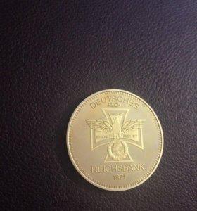 Mонета коллекционная Немецкая Gold.