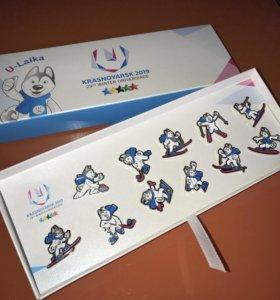 Набор значков Winter Universiade 2019, Эксклюзив