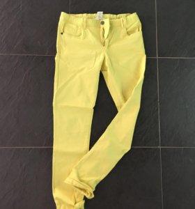 Жёлтые летние джинсы