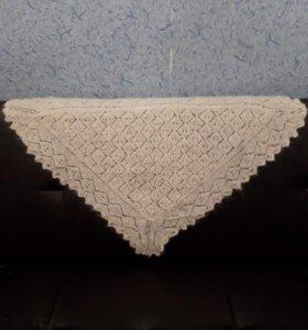 пуховый платок(косынка) из ангоры