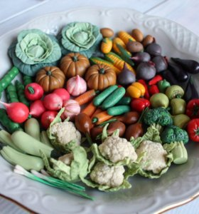 Овощи/фрукты из полимерной глины