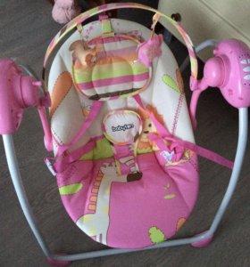 Качели детские Babyton Merry Pink
