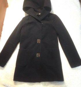 Пальто темно-синее