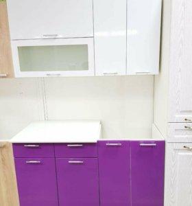 Кухня Ксения 1,4 белый /Виолетта