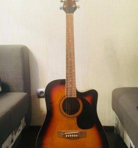 Акустическая гитара Martinez FAW-702EQ + подставка