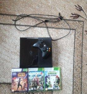 Xbox 360 500gb + kinect + 3 игры