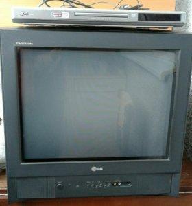 Телевизор и dvd плеер
