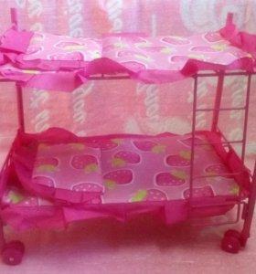 Двухярусная кроватка для кукол.