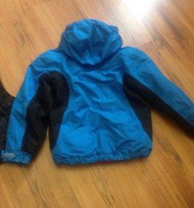 Куртка осень и желетка тёплая