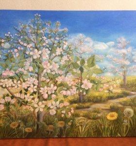 "Картина ,,Яблоневый сад"""