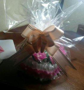 Цветы с сюрпризом (конфеты)