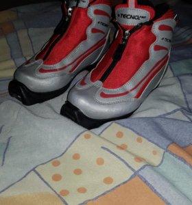 Лыжные ботинки детские р. 30