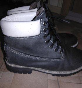 Зимние ботинки, натуральная кожа. р. 41