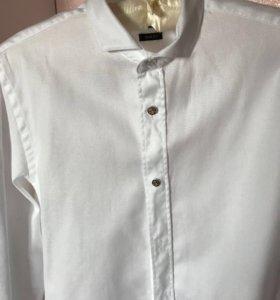 Рубашка белая, с запонками