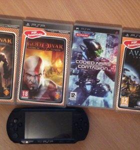 PSP и 5 игр к ней