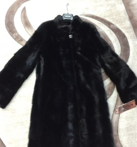Шуба норковая новая Черная  44-46 размера