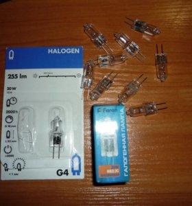 Капсульные галогенные лампочки G4-20 Ватт на 12V