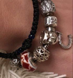 Браслет Pandora с шармами оригинал
