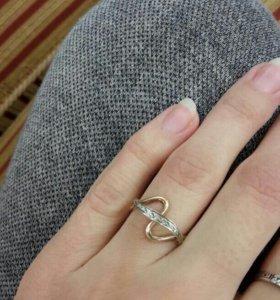 Золотое кольцо 15,5 размер