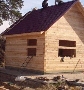 строительство домов,бань.