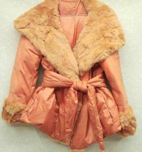 Куртка весна/осень с мехом.